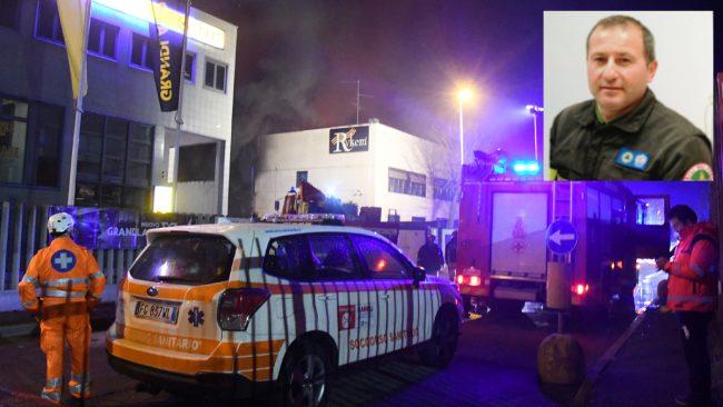 Pompiere muore in capannone in fiamme