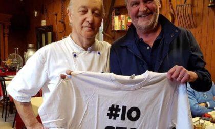 Roberto Calderoli a pranzo dall'oste di Casaletto Lodigiano