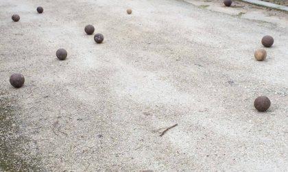 Stadio di Codogno rubano boccini per tirarli sugli avversari