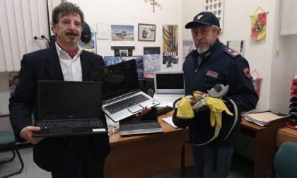 Trovati i computer rubati alla scuola media di Lodi Vecchio, erano a Treviglio
