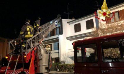 Incendio in una canna fumaria a Sant'Angelo Lodigiano