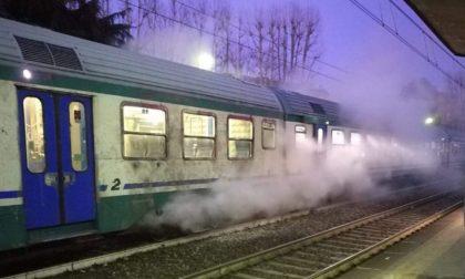 Fumo dall'impianto frenante del treno, evacuato convoglio a Lodi