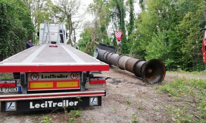 Smontaggio (e futura reinstallazione) pompe idrovore sull'Adda