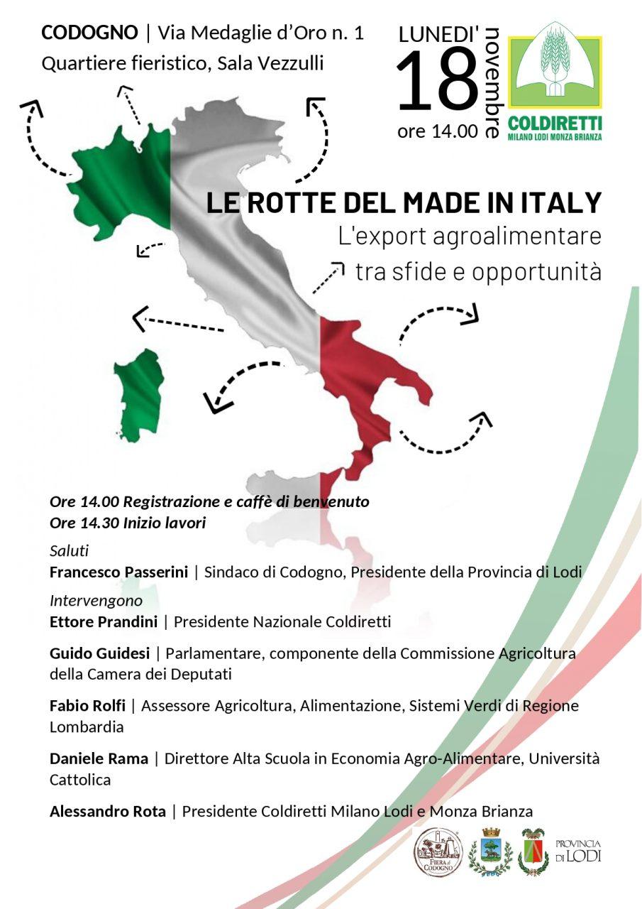 Fiera di Codogno: Coldiretti si focalizza sul Made in Italy