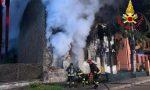 Incendio in palazzina a Borgo San Giovanni VIDEO FOTO