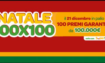 """""""Natale 100×100"""" di SuperEnalotto SuperStar: assegnati 100 premi da 100 mila euro, uno a Lodi"""