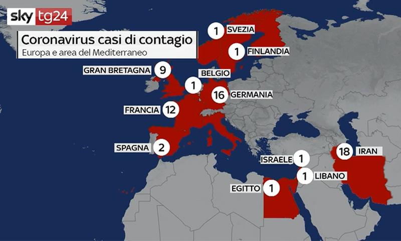 Bacino Del Mediterraneo Cartina Politica.I Contagi Da Coronavirus In Europa E Nel Bacino Del Mediterraneo Video Prima Lodi