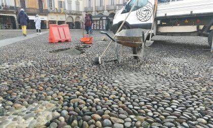 Pavimentazione piazza della Vittoria: partiti i lavori di manutenzione FOTO