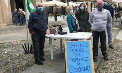 A Codogno il Pd scende in piazza contro l'attuale situazione degli ospedali della Bassa