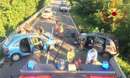 Schianto frontale sulla via Emilia: tre feriti gravi a Cavenago d'Adda FOTO