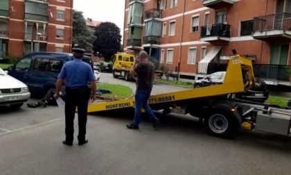 10 auto rimosse dai Carabinieri a Sant'Angelo Lodigiano