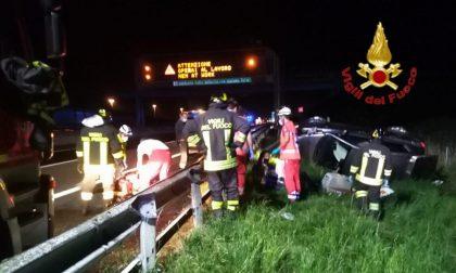 Grave fuori strada sull'A1: quattro persone ferite trasportate in Pronto Soccorso SIRENE DI NOTTE