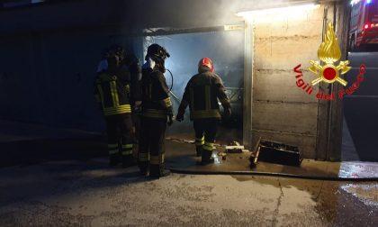 Incendio in garage a Tavazzano: arrivano i Vigili del Fuoco