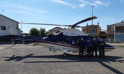 I Carabinieri di Lodi controllano dall'alto il territorio: utilizzato elicottero dell'Arma per fermare chi non rispetta le regole
