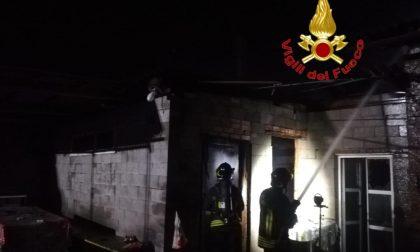 Incendio in una cascina di Massalegno contenente attrezzi