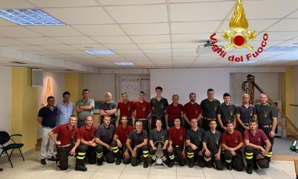 I Vigili del fuoco lodigiani danno il benvenuto a 18 nuovi volontari VIDEO