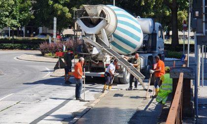 Ciclabile San Colombano, lavori quasi ultimati: riaperto il sottopasso FOTO
