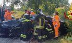 Schianto frontale a Cornegliano Laudense, un ferito in codice rosso FOTO