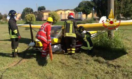 Incidente aereo: piccolo velivolo da turismo precipita dopo il decollo FOTO