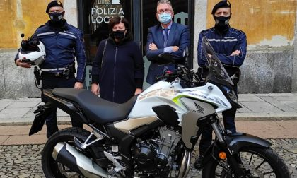 Nuova moto civetta per pattugliamenti in borghese per le strade di Lodi