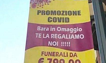 """Polemiche per la pubblicità delle pompe funebri: """"Promozione Covid, bara in omaggio"""""""