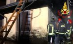 Paura a San'Angelo: un boato e poi l'incendio in una villetta