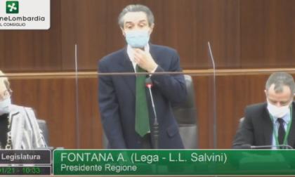 """Fontana riferisce sulla zona rossa in Consiglio regionale: """"Mancanza di rispetto vero i Lombardi oltre i limiti"""""""