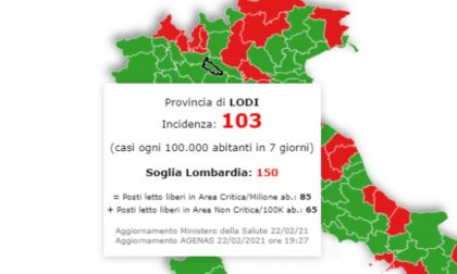 In Lombardia la situazione peggiora ma Lodi resta sotto la soglia critica