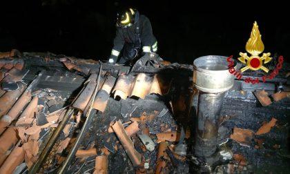 In fiamme un tetto a Graffignana, casa dichiarata inagibile