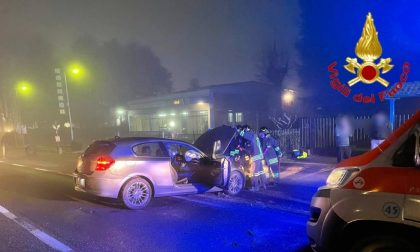 Scontro frontale a San Colombano al Lambro, tre feriti in ospedale
