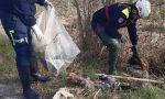 Abbandono di rifiuti, le foto della faticosa bonifica a Tavazzano
