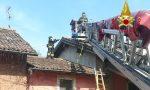 A fuoco la canna fumaria di un appartamento di Sant'Angelo Lodigiano