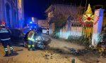 Perde il controllo dell'auto e si schianta contro un muro: 29enne in ospedale