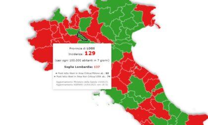 Coronavirus: la provincia di Lodi ha numeri da zona gialla