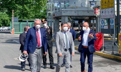 Il Prefetto di Lodi in visita all'impianto Itelyum di Pieve Fissiraga