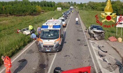 Incidente a San Colombano al Lambro, tre persone ferite