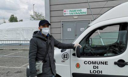 Accompagnamento all'hub vaccinale di Lodi: soddisfatte quasi 100 richieste