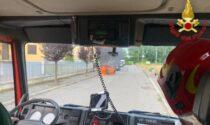 Auto in fiamme nel Pavese: l'intervento dei Vigili del Fuoco di Sant'Angelo