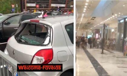 Temporali a raffica sul sud Milano: i video della grandine che rompe i vetri delle auto
