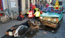 Schianto tra auto e moto a Crespiatica, centauro 29enne in ospedale