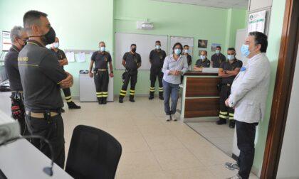 Il Prefetto di Lodi in visita nelle sale operative di Polizia e Vigili del fuoco