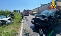 Grave frontale a Mulazzano, due persone (miracolate) in ospedale