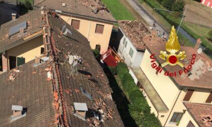 Tromba d'aria nel Lodigiano, diversi tetti distrutti a Corte Palasio